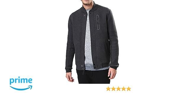 promo code d317d 4aefc Amazon.com Nike Mens Tech Varsity 3MM Jacket Black HeatherBlack  614379-032 Size XL Sports  Outdoors