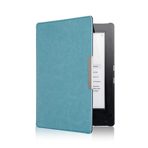 Price comparison product image KOBO AURA H2O eReader Case Accessries,Sunfei Magnetic Auto Sleep Leather Cover Case For KOBO AURA H2O eReader+Touch Pen (Light Blue)