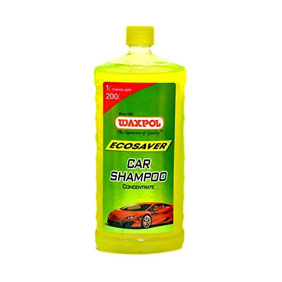 Waxpol Ecosaver Car Shampoo Concentrate - 1 LTR. (for Bucket, Foam & Snow Foam Wash) Set of 12