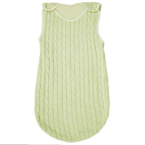 (Tadpoles 0-6 Months Cable Knit Sleep Sack, Green)