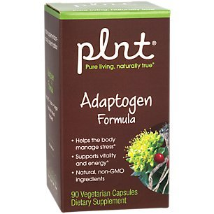 plnt Adaptogen Formula Made with Natural, NonGMO Ingredients to Help The Body Manage Stress Support Vitality Energy (90 Vegetarian Capsules)