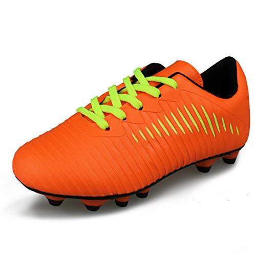 Hawkwell Comfortable Soccer Shoes(Toddler/Little Kid/Big Kid),Orange PU,12 M US