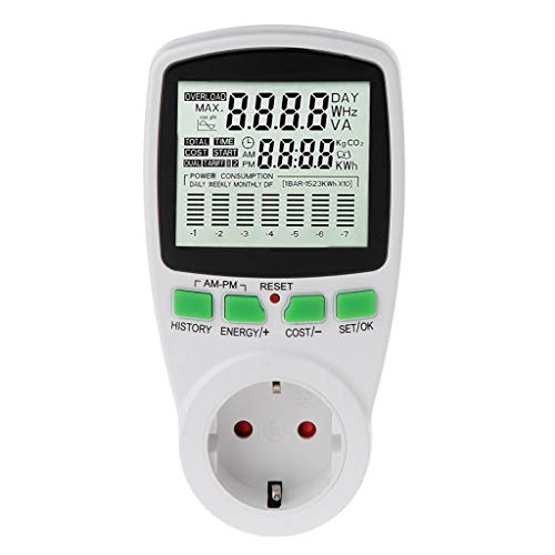 Shaoge LCD EU Digital Meter Voltage Wattmeter Power Electricity Consumption Analyzer