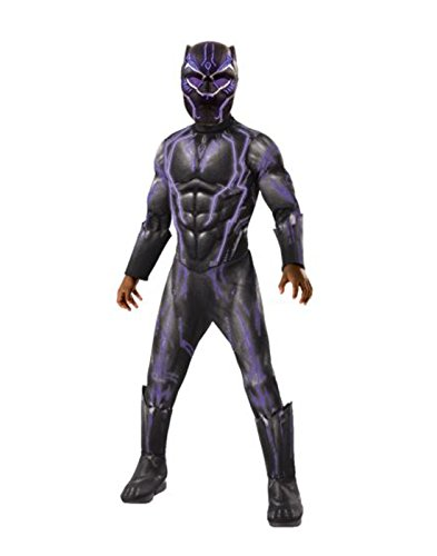 Rubie's Boys Black Panther Super Deluxe Light up Battle Costume, As Shown, -