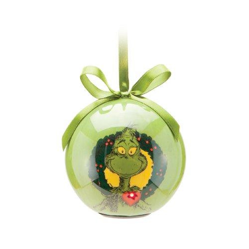 Dr. Seuss the Grinch Ball Ornament W/Led Light