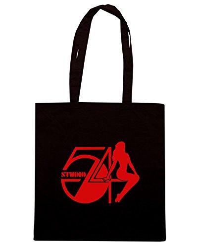 T-Shirtshock - Bolsa para la compra TR0127 Studio 54 T-Shirt Negro