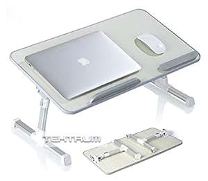 Amazon.com : Tektrum Adjustable Laptop Table, Laptop Bed ...