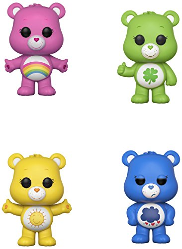 Funko Animation: POP! Care Bears Collectors Set - Good Luck Bear, Cheer Bear, Grumpy Bear, Funshine Bear -