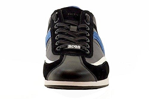 Hugo Boss Mens Stiven Mode Gris Foncé Daim Sneakers Chaussures Sz: 12