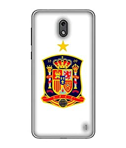 ColorKing Football Spain 09 White shell case cover for nokia 2
