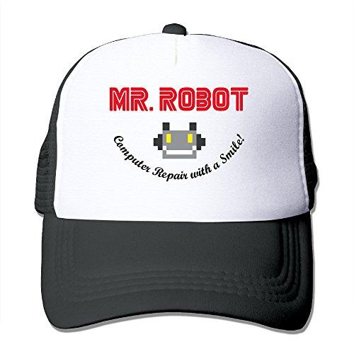 mr-robot-computer-repair-smile-hat-mesh-back-adjustable-black-one-size-for-adult