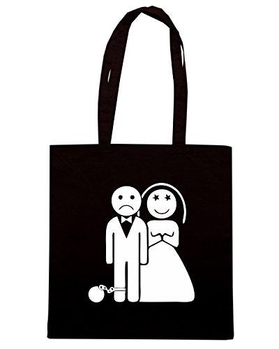 T-Shirtshock - Bolsa para la compra MAT0082 Wedding Prisoner Maglietta Negro