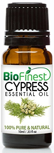 BioFinest Cypress Oil - 100% Pure Cypress Essential Oil - Premium Organic - Therapeutic Grade - Best For Aromatherapy - Mood uplifter -Energizing and Refreshing FREE EBook (10ml)