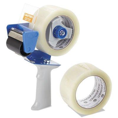 Carton Sealing Tape w/Pistol Grip Dispenser, 2'''' x 60yds, 3'''' Core, Clear, 2/Pack, Sold as 2 Roll