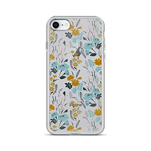 iPhone 7/8 Pure Clear Case Cases Cover Botanical Garden - Nature Vintage Stylish Pattern TPU Anti Slip Edge Hard Polycarbonate Back