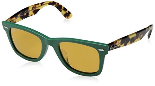 Ray-Ban Men's Wayfarer Polarized Square Sunglasses, Green, 52.1 mm