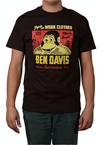 Ben Davis Men's Jeremy Fish Special Logo T-Shirt (Large, Brown)