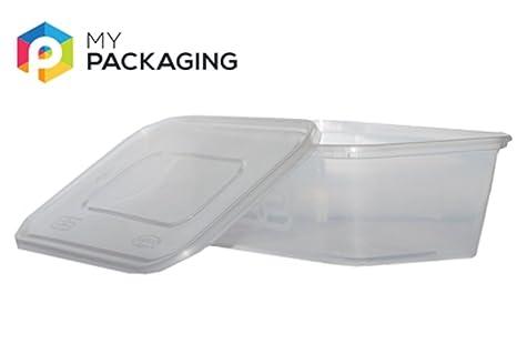 Microondas Alimentos recipientes con tapas 650 ml - pack de ...