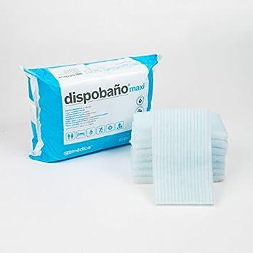 Dispobaño Maxi Esponjas jabonosas de un solo uso: Amazon.es: Salud y cuidado personal