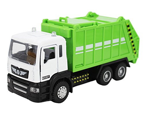 1:50 Scale Vehicle Alloy Pullback Diecast Truck Garbage