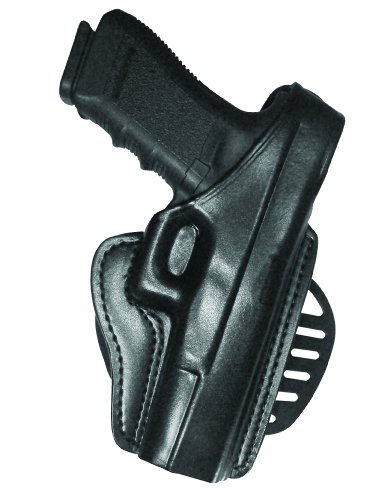 Gould & Goodrich B807-195 Gold Line Paddle Holster (Black) Fits most full-size 1911-type pistols with 4.75 in. to 5.0 in. bbl incl. BROWNING Hi-Power; COLT Delta, Elite, Gold Cup, Gov't, 1911A1; KIMBER Custom, Target, Gold Match, Royal; PARA-ORDNANCE P14 .45, P16 .40; SPRINGFIELD 1911A1; WILSON CQB