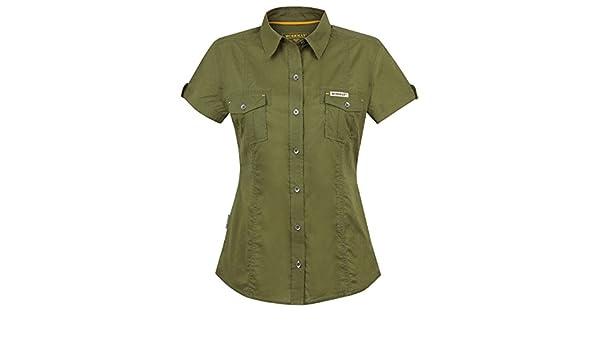 Front SwitchMan Camisa de mujer Eloise – Verano – Safari Ropa, Expedition Camisa, manga corta – 100% algodón – Talla S, M – Naranja, Green verde large: Amazon.es: Ropa y accesorios
