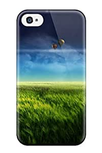 Hot Tpu Cover Case For Iphone/ 4/4s Case Cover Skin - Floating Island Blue
