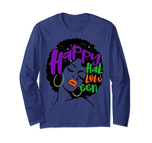 Black Girl Magic Halloween Long Shirt Zombie Afro Diva -