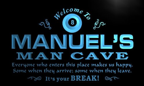 ADVPRO x0110-tm Manuel's Man Cave Billiard Parlor Custom Personalized Name Neon Sign ()