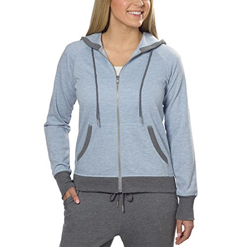 Champion® Ladies French Terry Full Zip Hoodie (Large, Blue Heather) ()