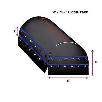 Image of 12' x 6' X 6' Xtarps Truck Tarp - Coil Tarp - Heavy Duty, Industrial Grade Boat Covers