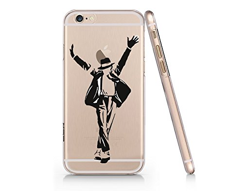 Michael Jackson Slim Transparent Plastic Phone Case for iphone 6 PLUS 6s PLUS_ SUPERTRAMPshop (iphone 6 plus)