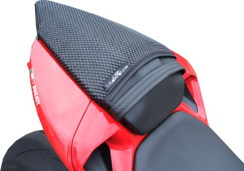 Augusta Seating - TRIBOSEAT Ducati 1199 Panigale (2012-2014) Anti Slip Motorcycle Passenger SEAT Cover Accessory Black