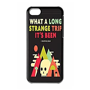 Fancy had Grateful other Dead Lightweight has Printed Hard Plastic case Snap-on cover for iPhone 5C _Black 30609 gone