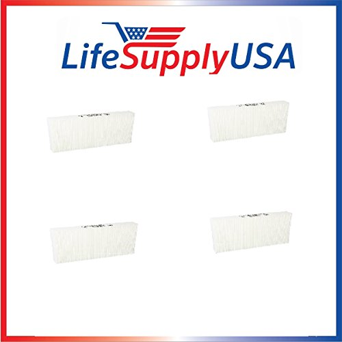 4-pack True HEPA Replacement Filter for Honeywell HRF-R2 fits Models: HPA-090 Series, HPA-100 Series, HPA200 Series, HPA300 Series by LifeSupplyUSA