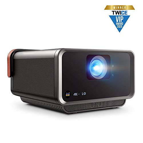 ViewSonic X10-4KE True 4K UHD Short Throw LED Portable Smart Wi-Fi Home Theater Projector Compatible with Amazon Alexa…