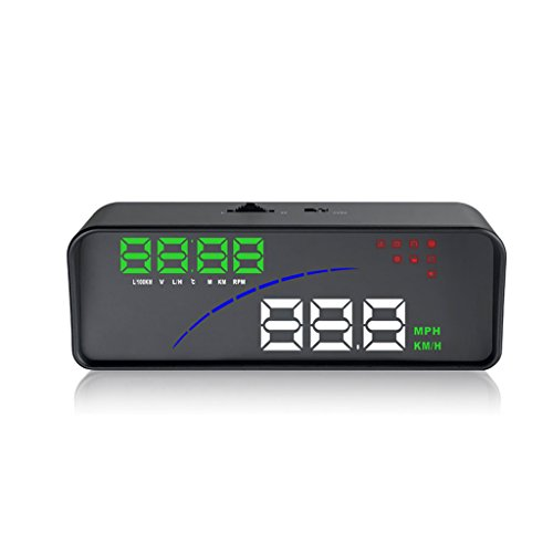 Goodqueen P9 GPS HUD Digital Car Speeding Warning Head up Display