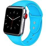 ATUP Compatible avec pour Apple Watch Bracelet 38mm 42mm 40mm 44mm, Bracelets de Remplacement en Silicone Souple Compatible avec pour iWatch Série 4, Série 3, Série 2, Série 1