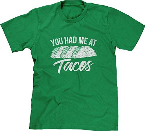 Blittzen Mens You Had Me At Tacos, L, (Halloween Joke For Boyfriend)