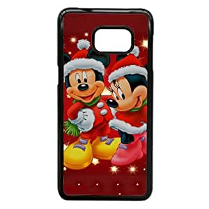 Mickey caso de navidad V3A25B9UK funda Samsung Galaxy S6 Edge Plus funda 4DOSK0 negro