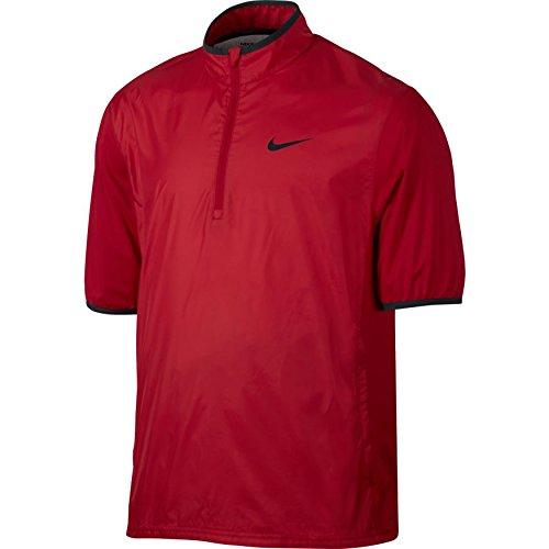 NIKE CLOSEOUT Shield Men's Short Sleeve Golf Jacket (University Red, Medium) by NIKE