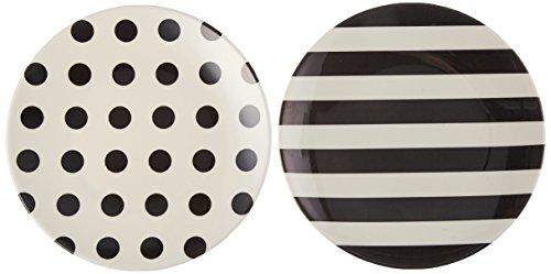 Kate Spade New York Raise a Glass Tidbit Plate, - Spade White Black Kate And