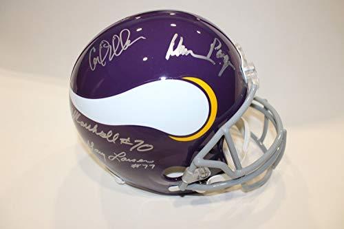 d5af48787 Minnesota Vikings Signed Helmets. Purple People Eaters Autographed Signed  Minnesota Vikings Full-Size Helmet Memorabilia JSA COA Auto