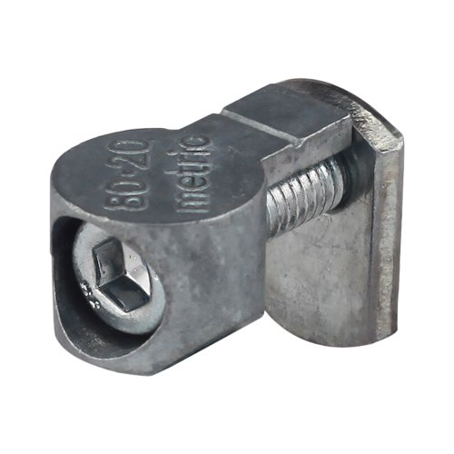 80/20 Inc., 13186, 30 Series, Anchor Fastener, M6 X 22mm Bolt and Slide-In T-Nut, Zinc Casting with Lacquer - Insert Series Fasteners