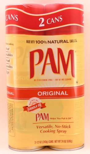 Pam Original No-Stick Cooking Spray 100% natural Canola Oil (2 pack - 12oz each can)