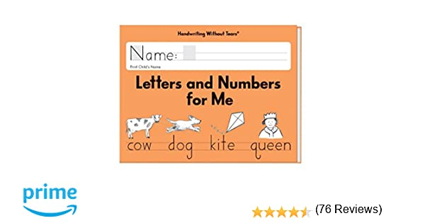 Amazon.com: Handwriting Without Tears Letters and Numbers ...