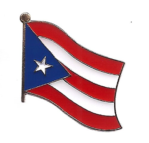 Pack of 50 Puerto Rico Flag Lapel Pins, Puerto Rican Single Pin Badge ()