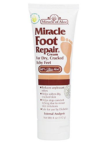 Repair Cream 4 oz with 60% Pure Organic Aloe Vera Softens Dry Cracked Feet. (Gehwol Foot Cream)