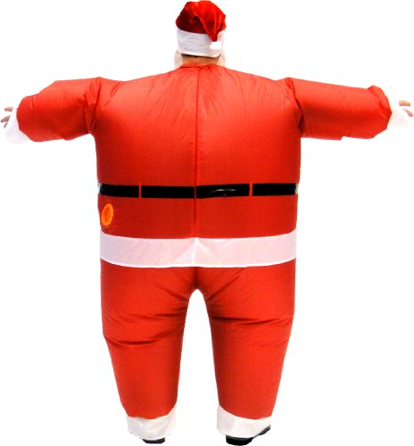 Santa claus inflatable chub suit costume with beard and