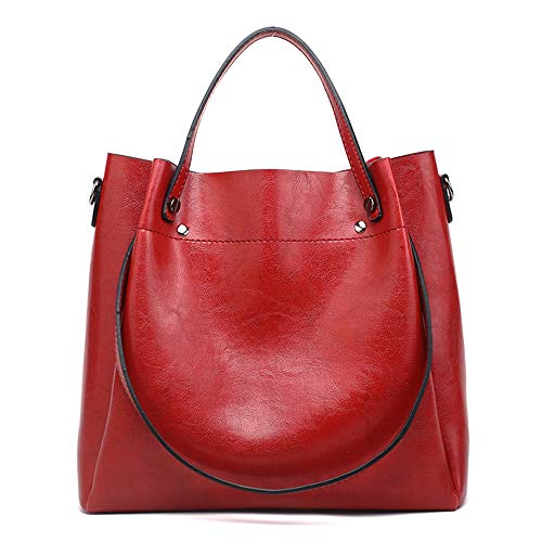 Cawmixy Hobo Women Satchel Soft Shoulder Bags Classic Tote Ladies Purses Designer Woman Bags (New Red) ()